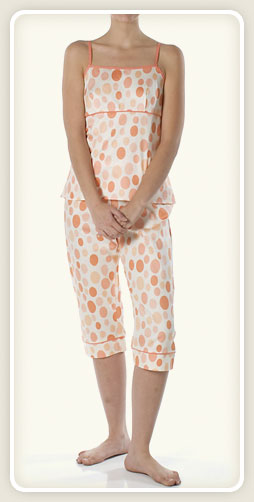 Bedhead Pajamas - Coral Ovals Sateen