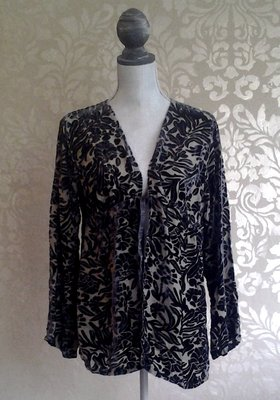Bella Notte New Primrose Graphite Grey Floral Velvet Jacket