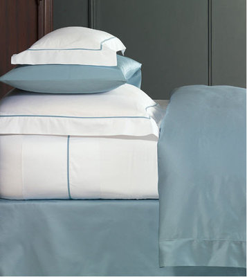 Contemporary Sheets & Bedding with Velvet Trim de Medici Linea