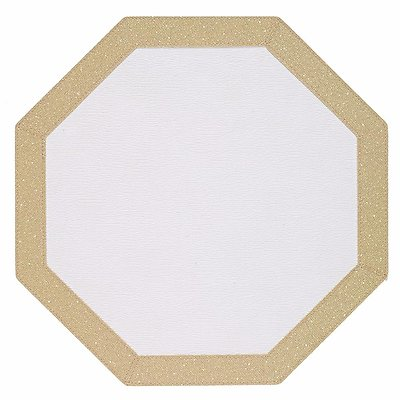Bodrum Bordino Gold Sparkle Octagon Easy Care Place Mats - Set of 4