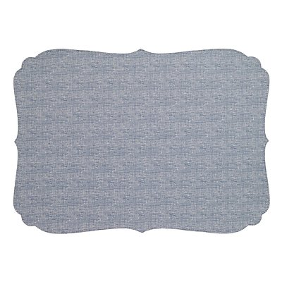Bodrum Curly Bluebell Oblong Easy Care Placemats - Set of 4
