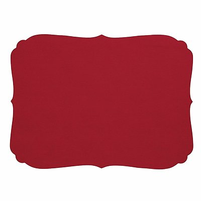 Bodrum Curly Red Oblong Easy Care Placemats - Set of 6