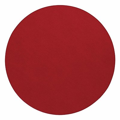 Bodrum Presto Red Round Easy Care Placemats - Set of 6