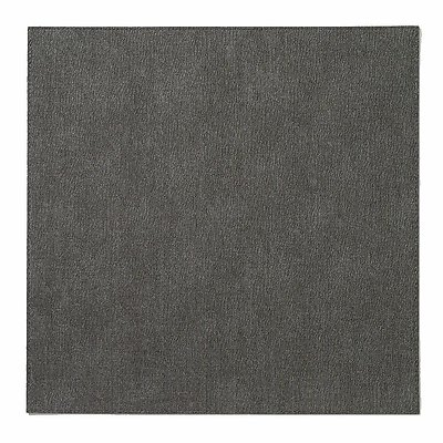 Bodrum Presto Charcoal Grey Square Easy Care Placemats - Set of 6