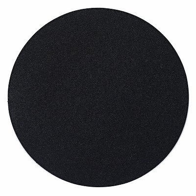 Bodrum Skate Black Round Easy Care Placemats - Set of 4