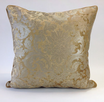 Golden Bronze Maldon Velvet Floral Pillow by Daniel Stuart Studios