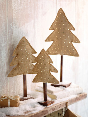 Burlap & Gem Christmas Trees