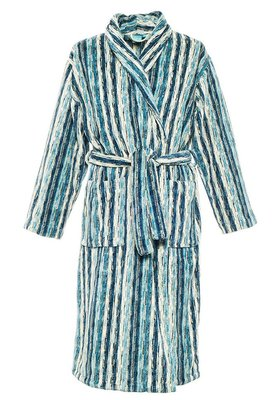 Elaiva Blue Perth Collar Striped Bath Robe