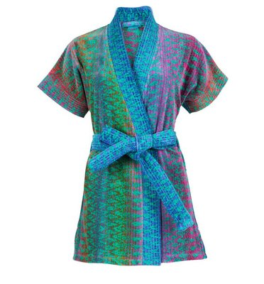 Elaiva Green Ocean Magic Kimono Beach Bath Robe