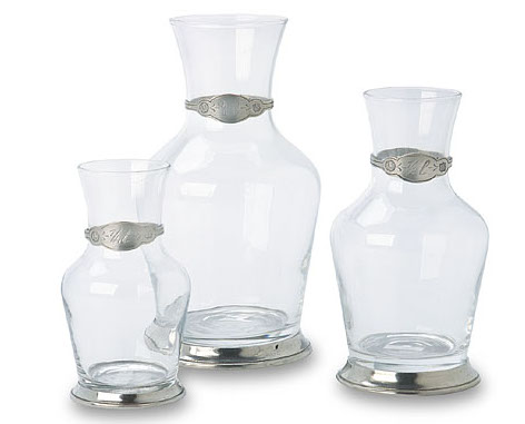 Glass & Pewter Carafe by Match Pewter