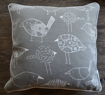 Cute Grey and White Bird Pillow