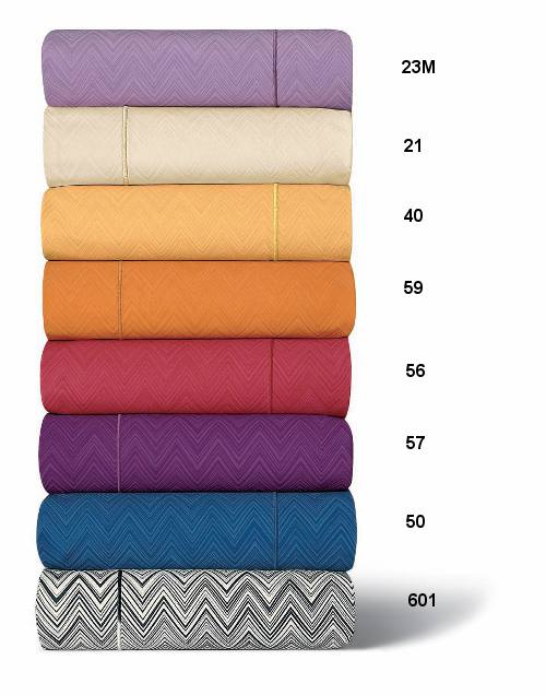 Jo Sheets & Bedding by Missoni Home, 8 Colors