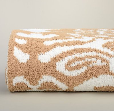 Kashwere Damask Camel and Cream Throw Blanket