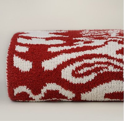 Kashwere Damask Cranberry Red and Malt Throw Blanket