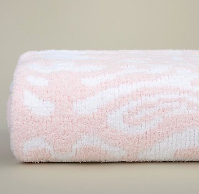 Kashwere Damask Pink and White Throw Blanket