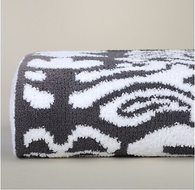 Kashwere Damask Slate Grey and White Throw Blanket