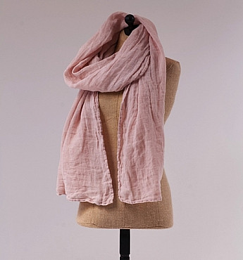 Linen Whisper Scarf in Heirloom Rose Pink by Bella Notte