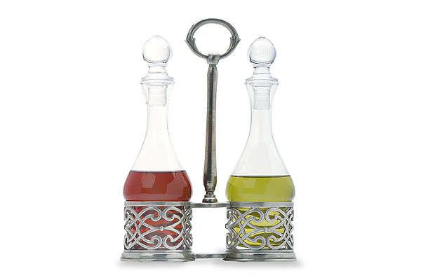 Cutwork Oil and Vinegar Set by Match Pewter