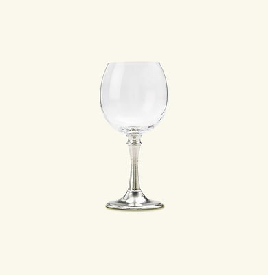 Crystal & Pewter Balloon Wine Glass. Match Pewter Tosca item 1206.1