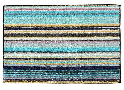 missoni home jazel 170 turquoise blue striped bath rug rh jbrulee com striped cotton bath rugs blue striped bathroom rugs