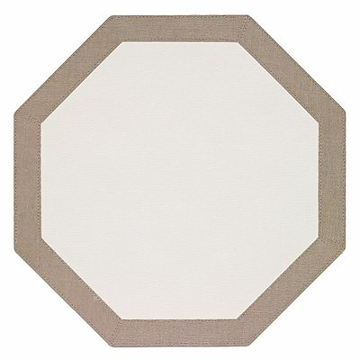 Bodrum Bordino Oatmeal White Octagon Easy Care Place Mats - Set of 4