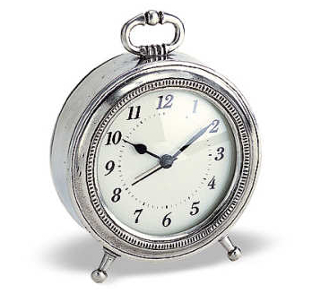 Toscana Pewter Alarm Clock by Match Pewter