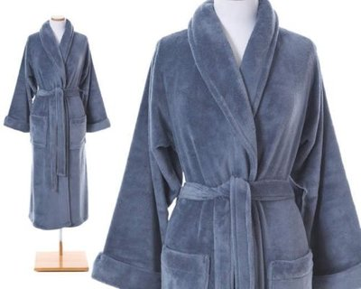 Blue Color Bath Robe.  Pine Cone Hill Sheepy Fleece Twilight Robe