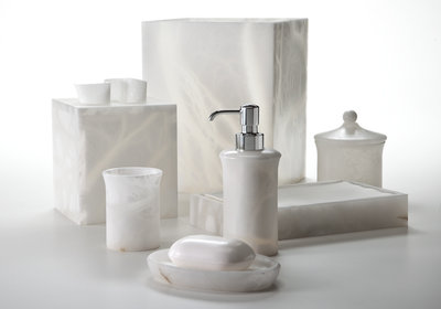 Labrazel Alabaster Bath Accessories - Alisa White