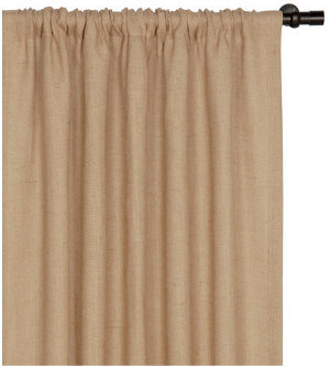 Burlap Curtains in Wheat, Moss and Birch | J Brulee Home