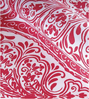 Red Pink Damask Print Sheets Bedding Duvet Covers